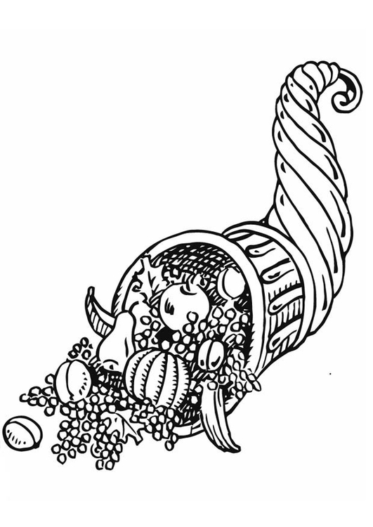 Coloring page horn