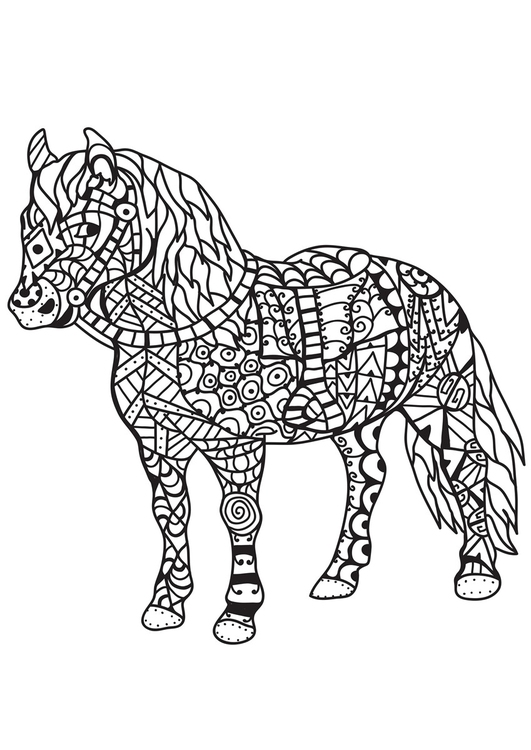 Coloring page horse
