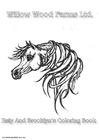 Coloring page horse farm