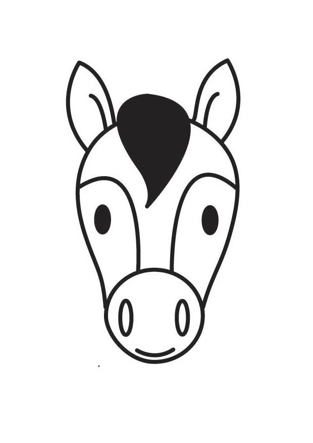 Coloring page Horse Head - img 18414.