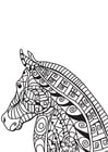 Coloring pages horse head