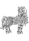 Coloring pages horse mare