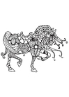 Coloring page horse of knight