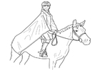 Coloring pages horse riding