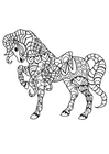 Coloring page horse with saddle