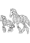Coloring page horses