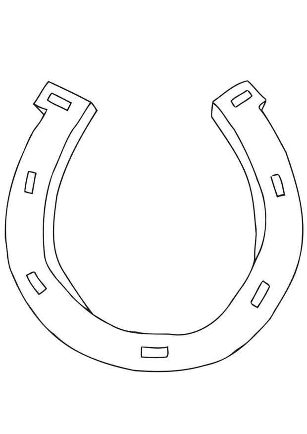 Coloring page horseshoe img 21699