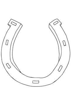Coloring page horseshoe