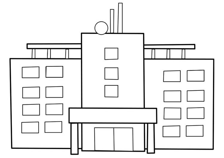 Coloring page hospital
