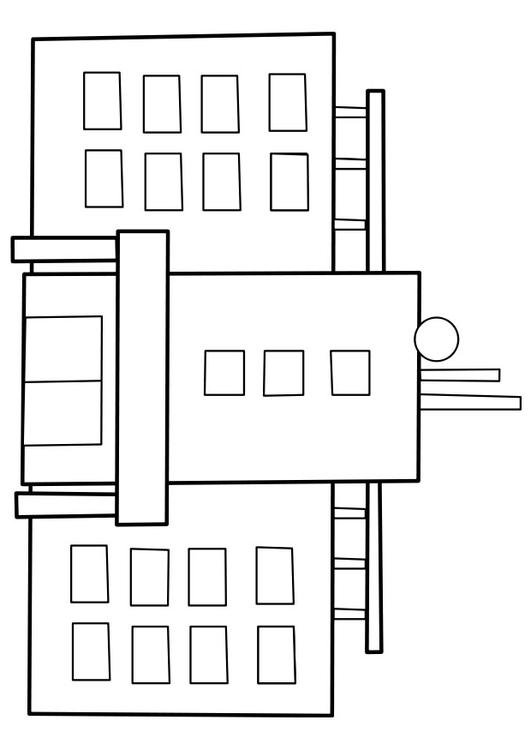 coloring pages hospital themed - photo#32
