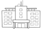 Coloring pages hospital