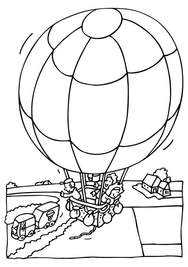 Coloring Page Hot Air Balloon