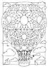Coloring page Hot air balloon