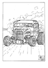 Coloring pages hot rod