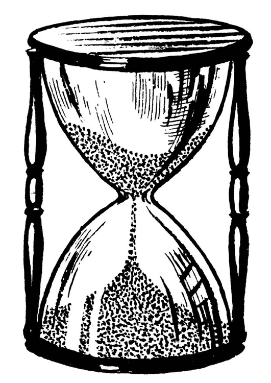 Coloring page hourglass