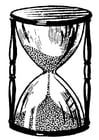 Coloring pages hourglass