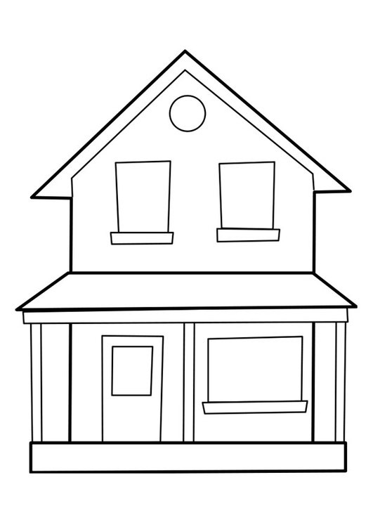 Coloring page house
