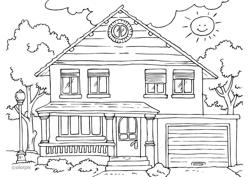Coloring page house exterior img 25996 Images