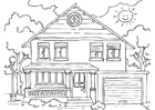 Coloring pages house - exterior