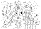 Coloring pages house of horror