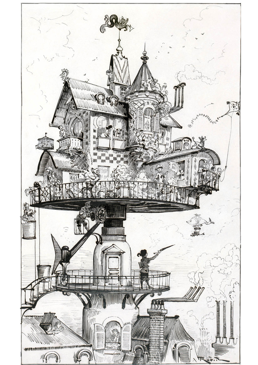 Coloring page House of the future - 1883