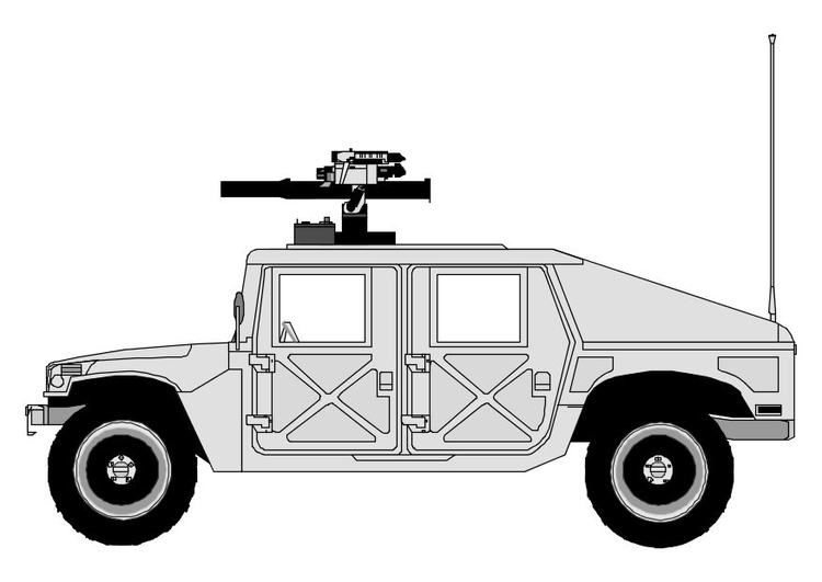 Coloring page hummer