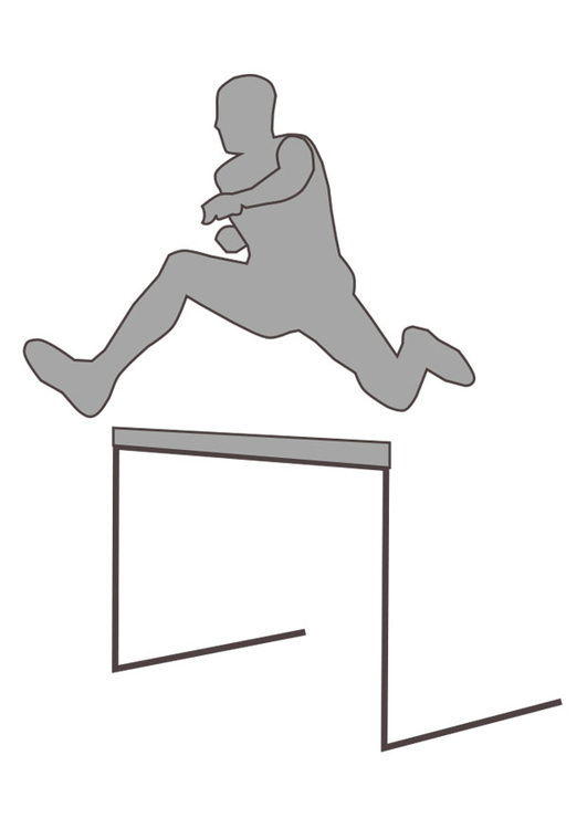 Coloring page hurdle racing