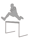 Coloring pages hurdle racing