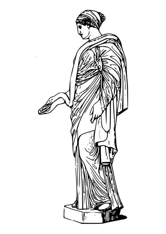 Coloring page Hygieia