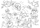 Coloring page hyperactive - ADHD