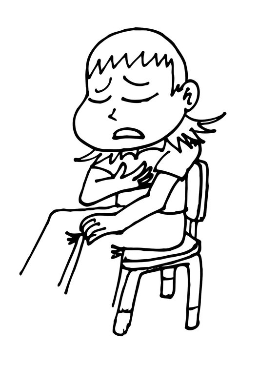 Coloring page I feel sick - img 11768.