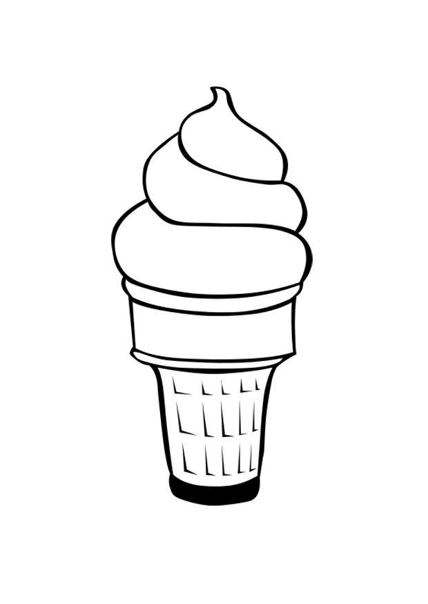 Coloring Page Ice Cream Img
