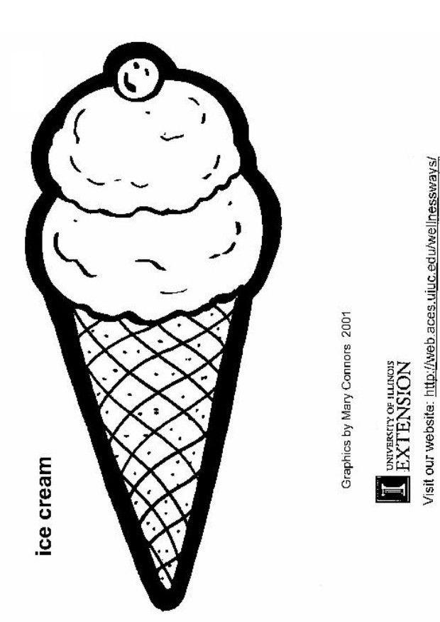 Coloring page ice cream - img 5811.
