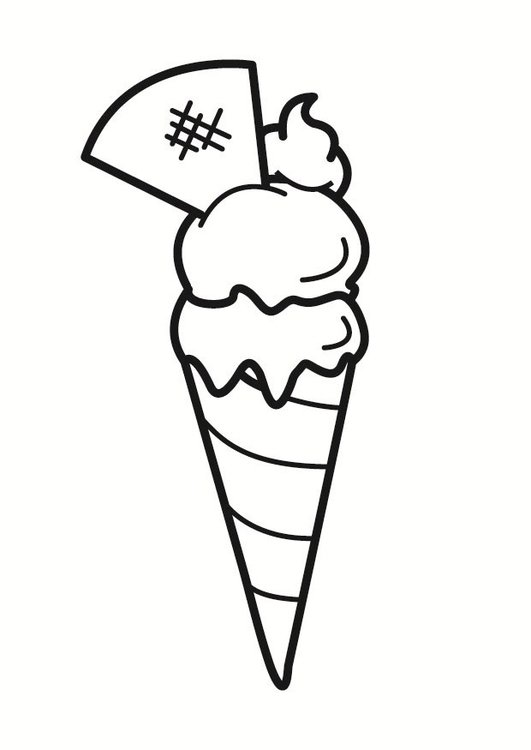 Coloring page ice cream