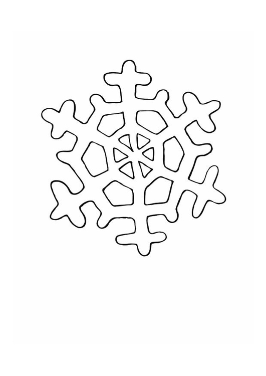 Coloring page ice crystal