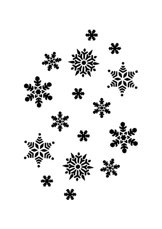 Coloring page ice-crystals