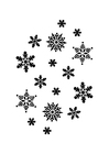 Coloring pages ice-crystals