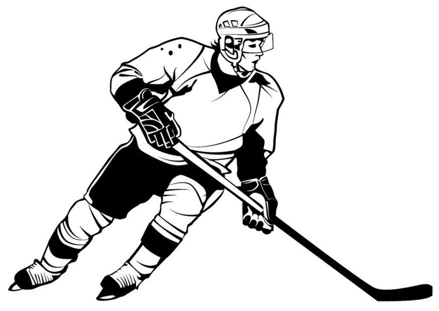 Coloring Page Of A Hockey Player. Download large image Coloring page ice hockey  img 26107