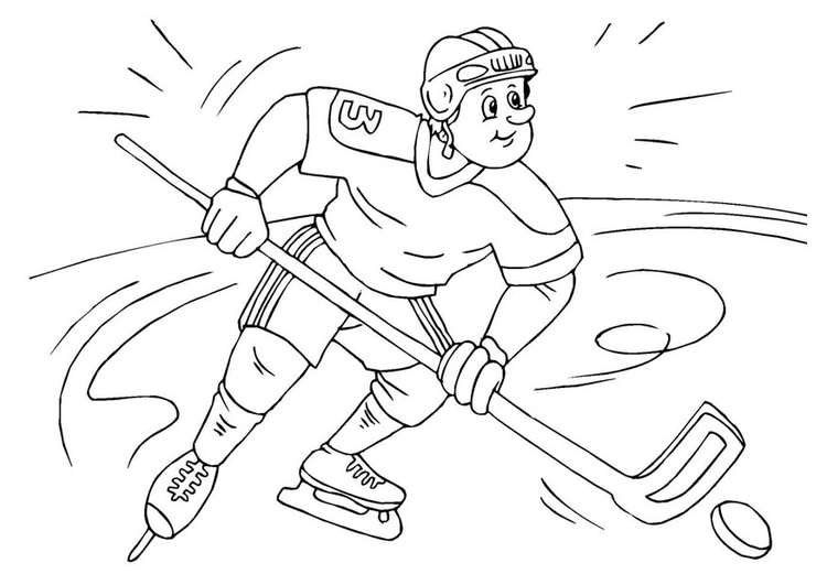 Coloring Page ice hockey - free printable coloring pages
