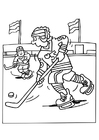 Coloring pages ice hockey