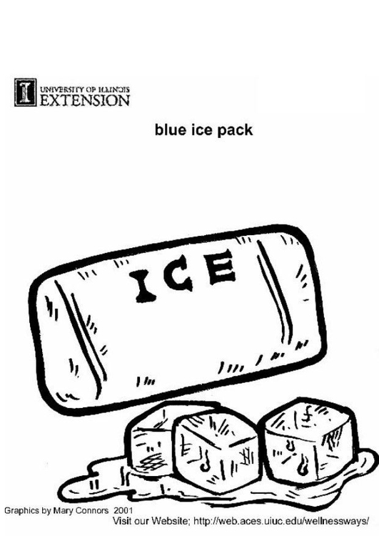 Coloring page ice pack