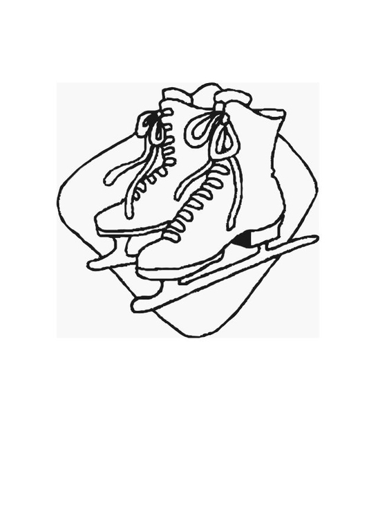 Coloring page ice skating