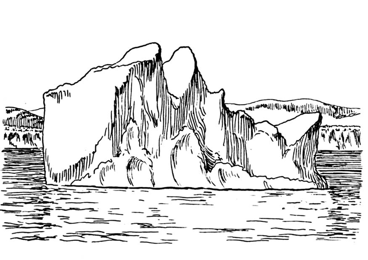 Coloring page iceberg