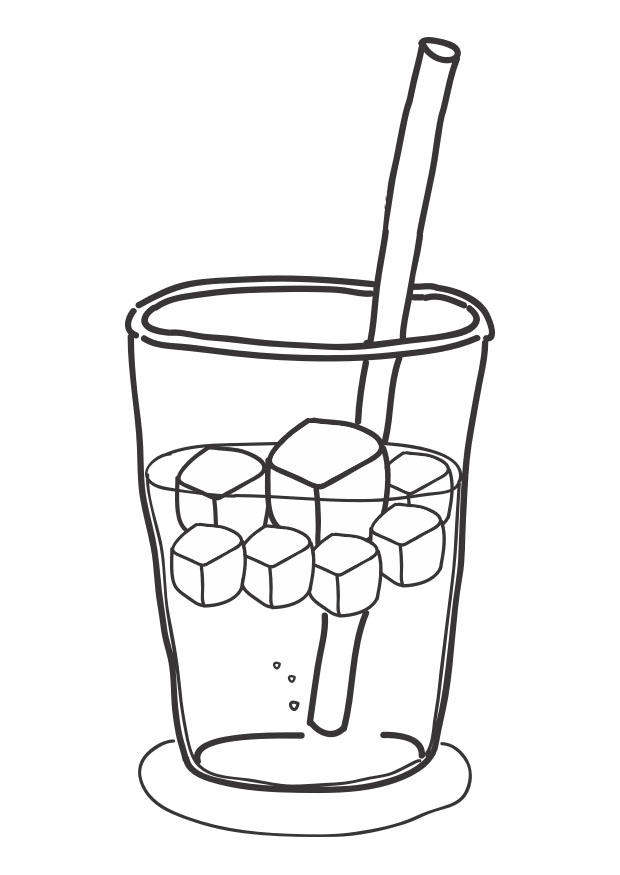coloring page icecubes in drink free printable coloring pages coloring page icecubes in drink free