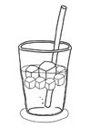 Coloring pages icecubes in drink