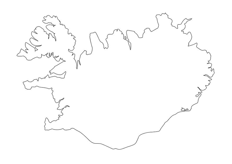 Coloring page iceland