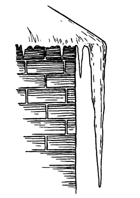 Coloring page icicle
