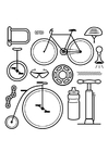 Coloring pages icons - bicycle