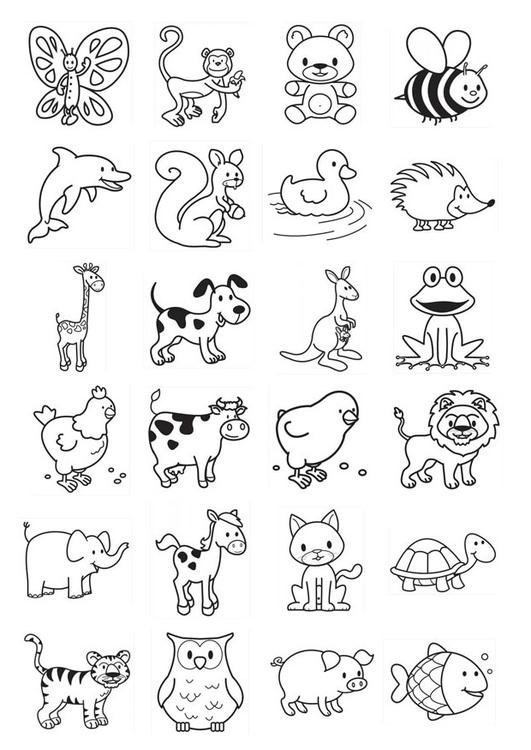Coloring page icons for infants img 20781 images for Animali marini da disegnare