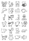 Coloring page icons for infants